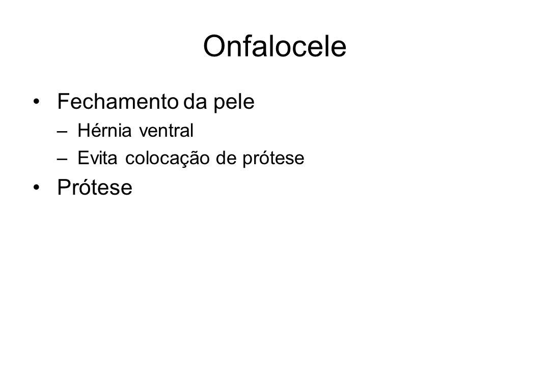 Onfalocele Fechamento da pele Prótese Hérnia ventral