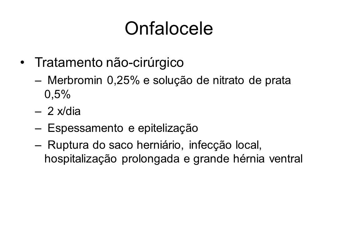 Onfalocele Tratamento não-cirúrgico