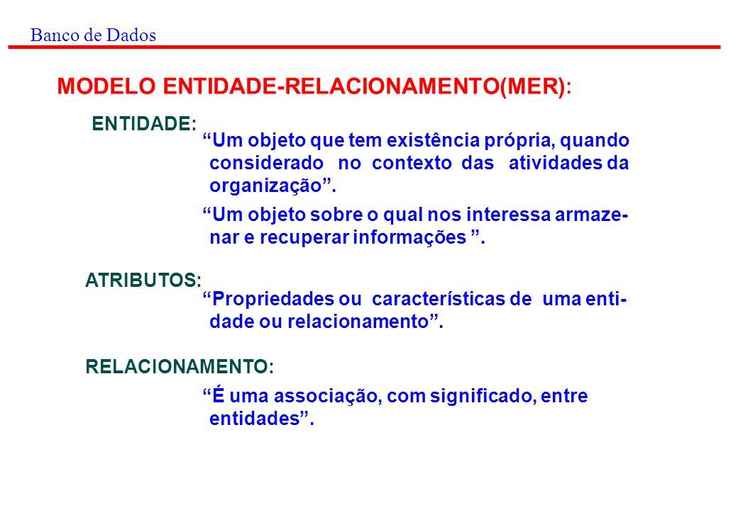 MODELO ENTIDADE-RELACIONAMENTO(MER):
