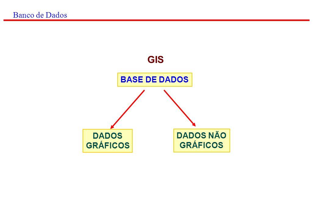 Banco de Dados GIS BASE DE DADOS DADOS GRÁFICOS DADOS NÃO