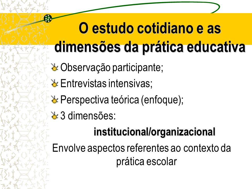 O estudo cotidiano e as dimensões da prática educativa