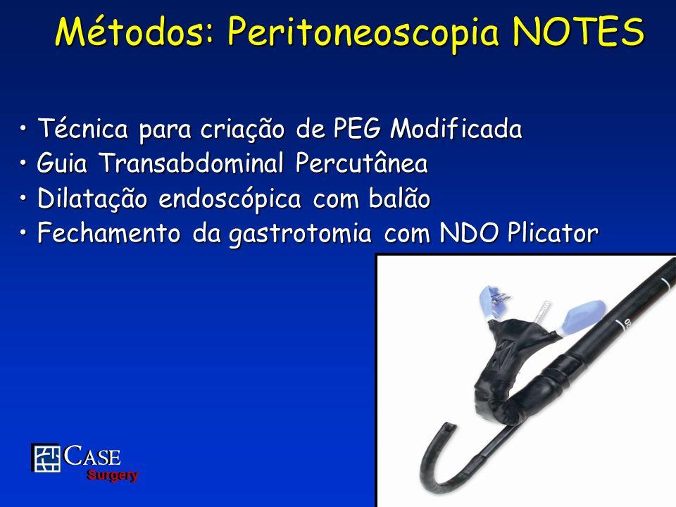 Métodos: Peritoneoscopia NOTES