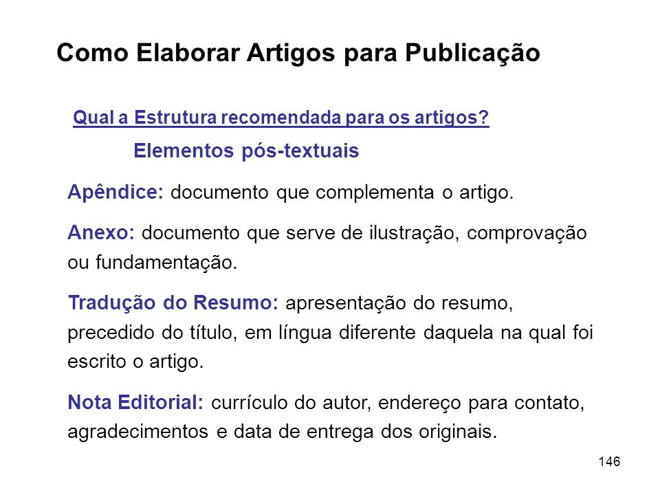 Como Elaborar Artigos para Publicação