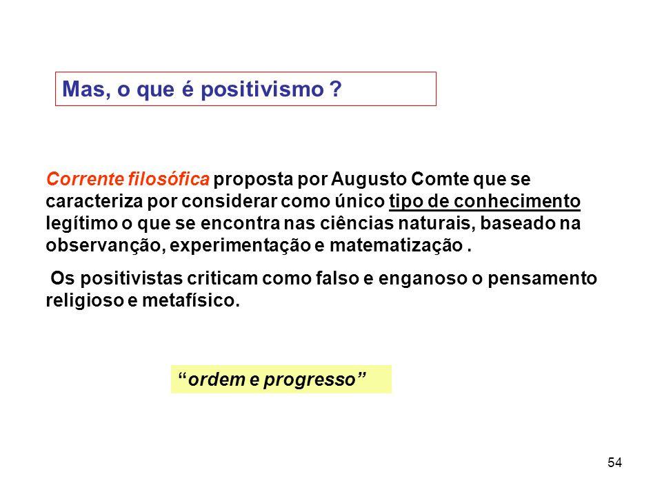 Mas, o que é positivismo