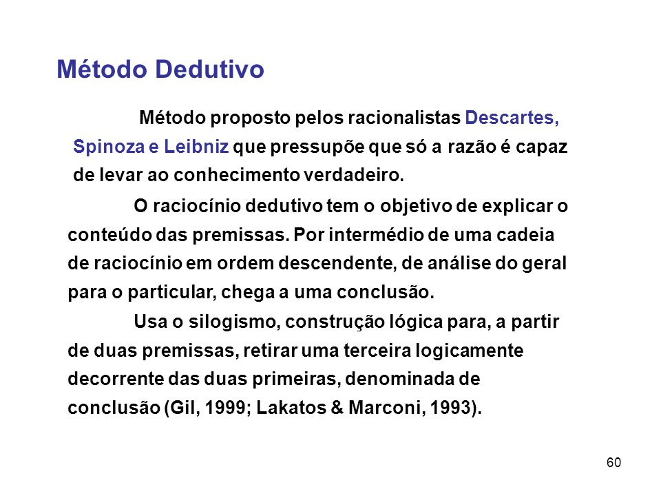 Método Dedutivo