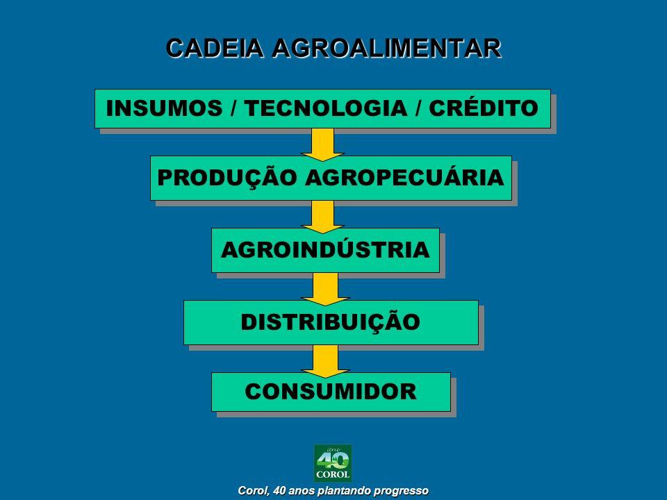 INSUMOS / TECNOLOGIA / CRÉDITO PRODUÇÃO AGROPECUÁRIA