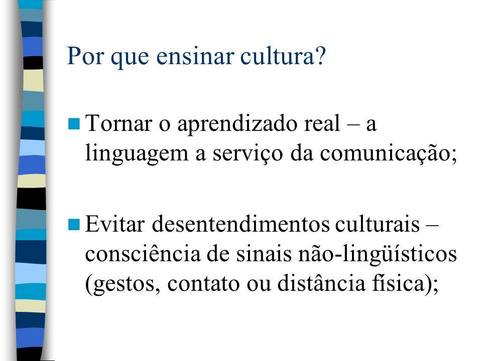 Por que ensinar cultura