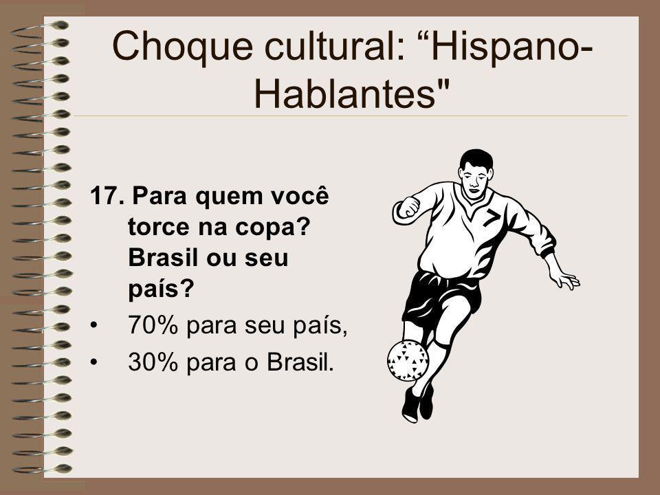 Choque cultural: Hispano- Hablantes