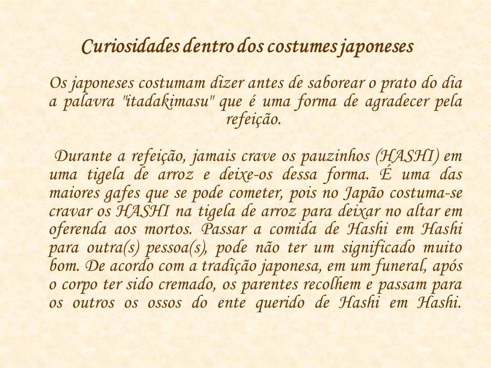 Curiosidades dentro dos costumes japoneses