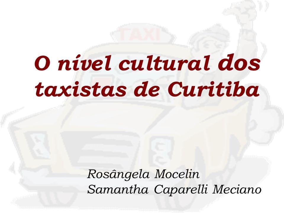 O nível cultural dos taxistas de Curitiba