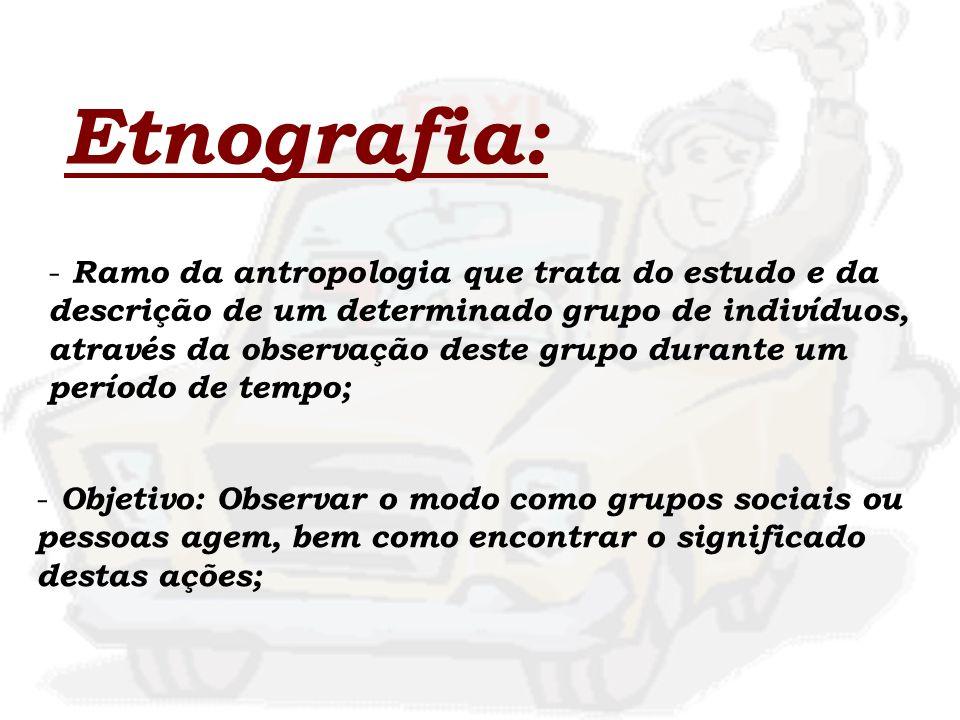 Etnografia: Ramo da antropologia que trata do estudo e da