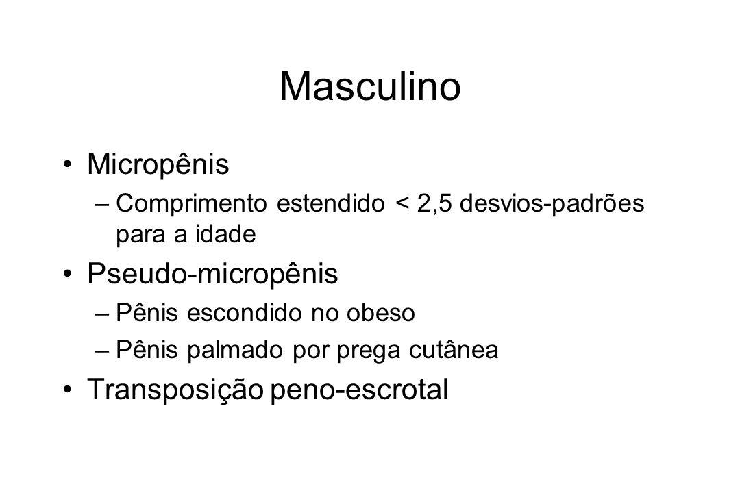 Masculino Micropênis Pseudo-micropênis Transposição peno-escrotal