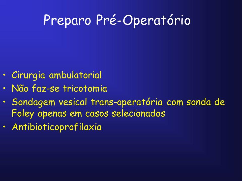 Preparo Pré-Operatório