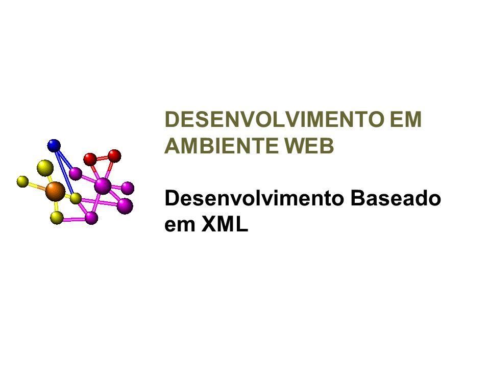 DESENVOLVIMENTO EM AMBIENTE WEB Desenvolvimento Baseado em XML