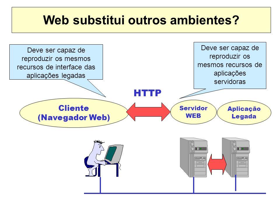 Web substitui outros ambientes