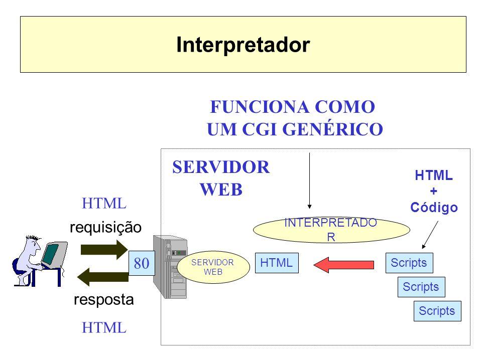 Interpretador FUNCIONA COMO UM CGI GENÉRICO SERVIDOR WEB HTML