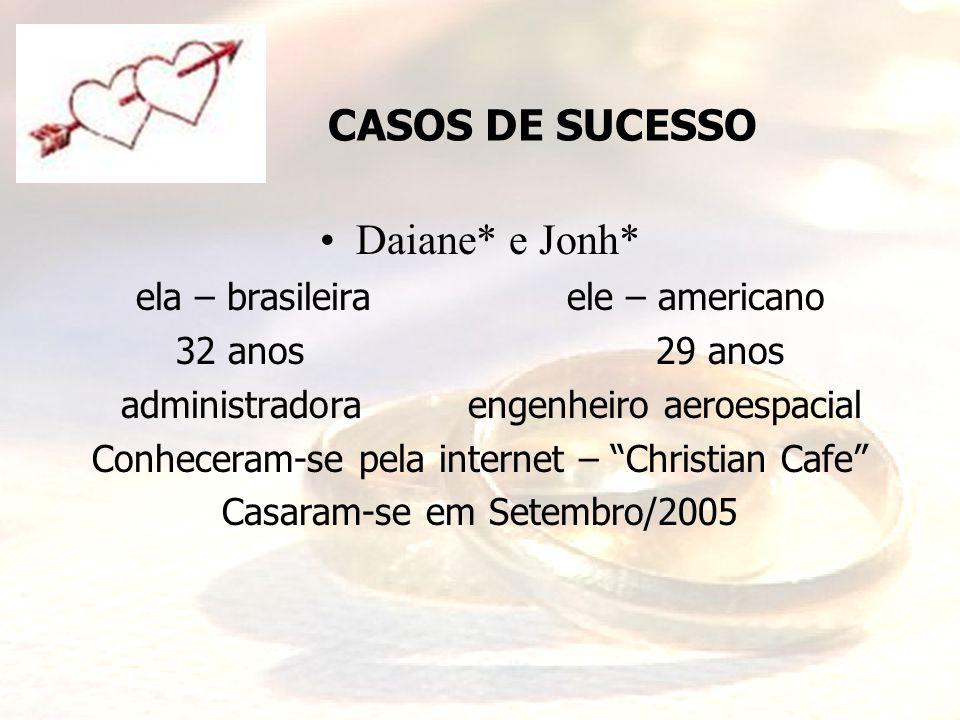 CASOS DE SUCESSO Daiane* e Jonh* ela – brasileira ele – americano