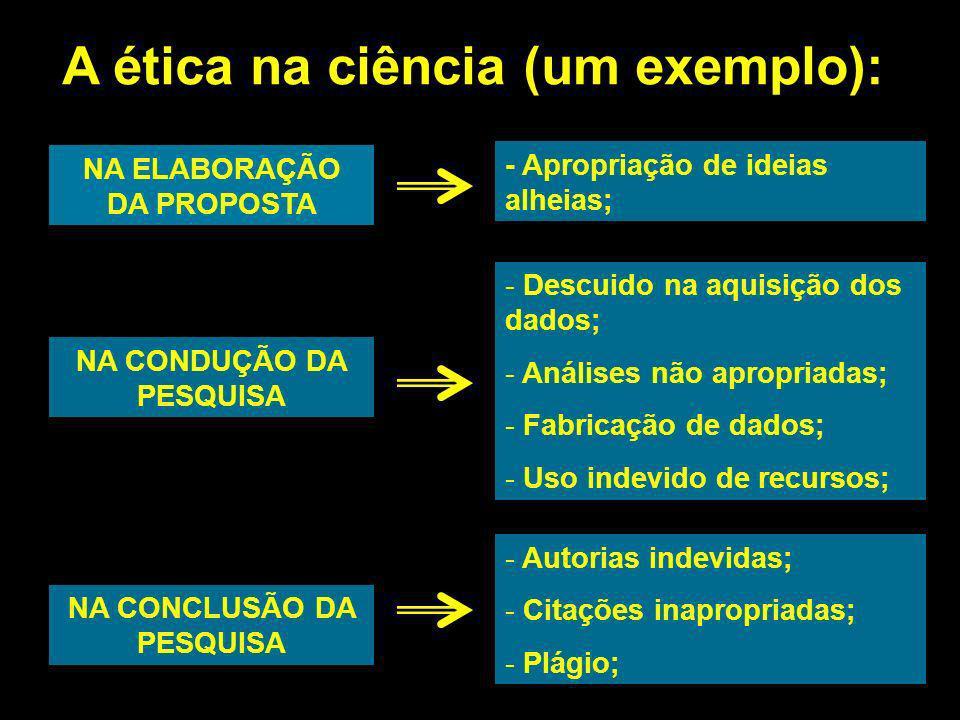 A ética na ciência (um exemplo):