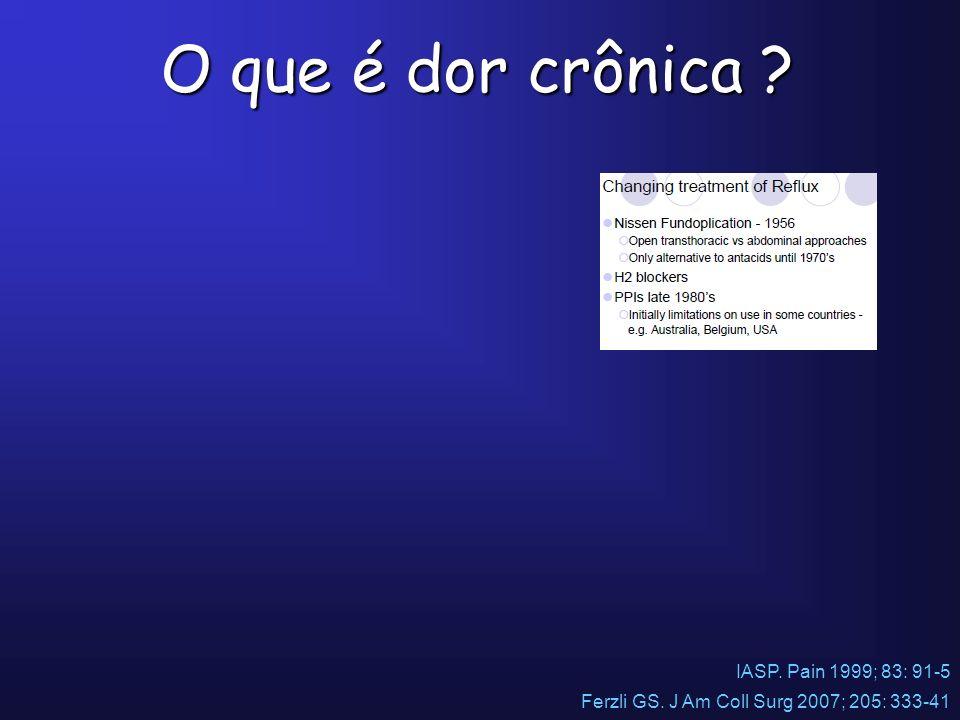 O que é dor crônica IASP. Pain 1999; 83: 91-5