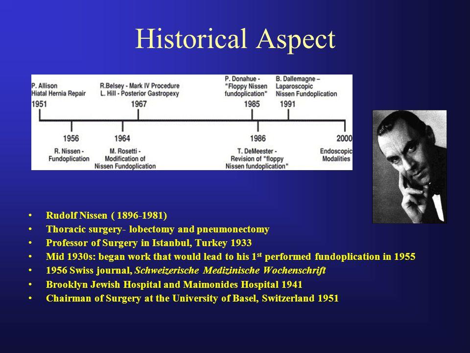Historical Aspect Rudolf Nissen ( 1896-1981)