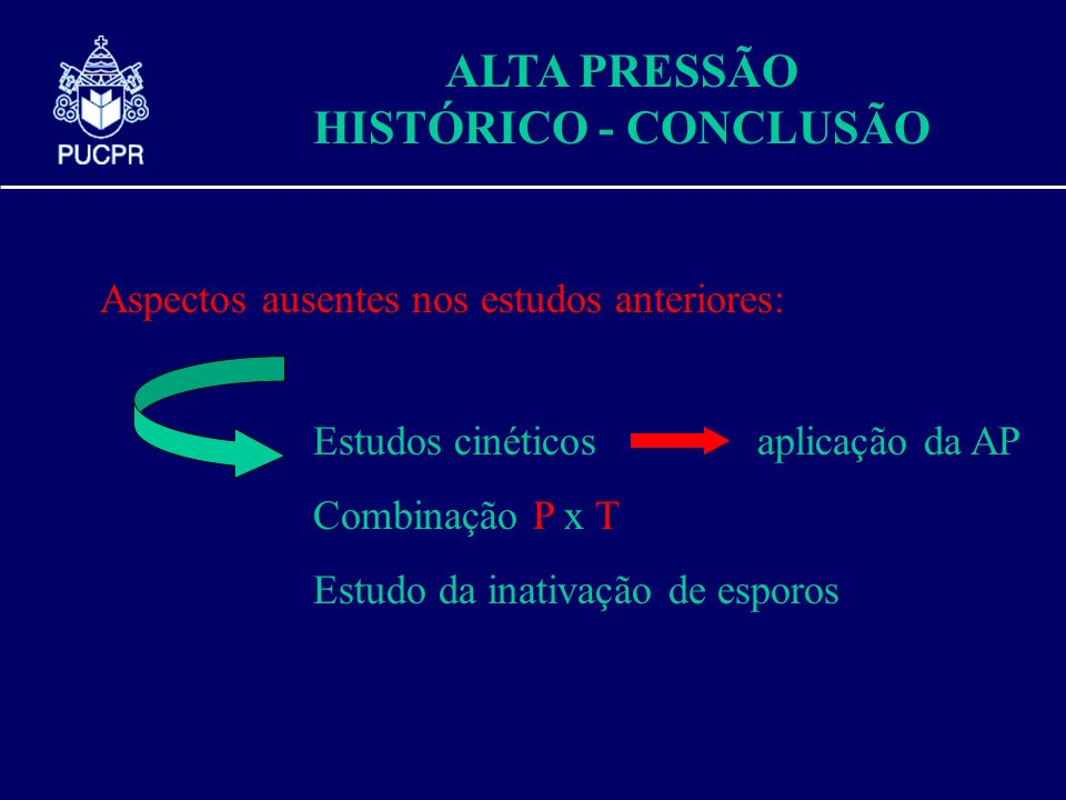 ALTA PRESSÃO HISTÓRICO - CONCLUSÃO