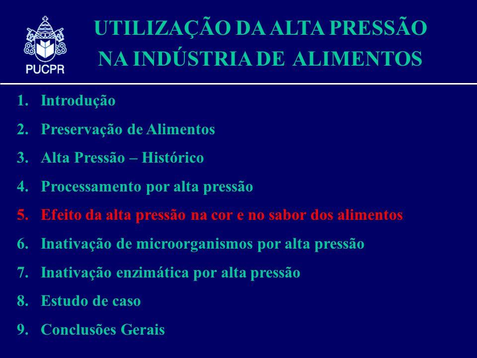 UTILIZAÇÃO DA ALTA PRESSÃO NA INDÚSTRIA DE ALIMENTOS