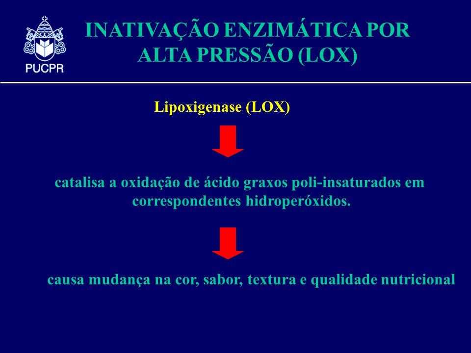 INATIVAÇÃO ENZIMÁTICA POR ALTA PRESSÃO (LOX)