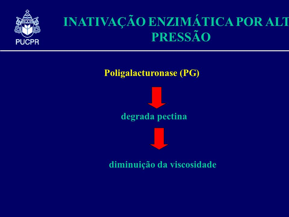 INATIVAÇÃO ENZIMÁTICA POR ALTA PRESSÃO