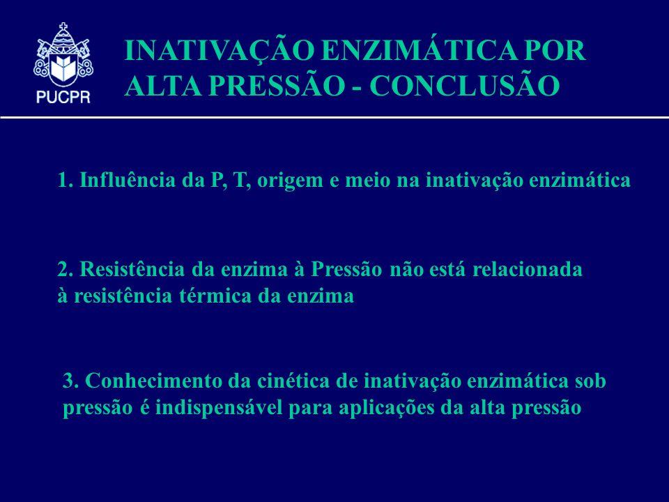 INATIVAÇÃO ENZIMÁTICA POR ALTA PRESSÃO - CONCLUSÃO
