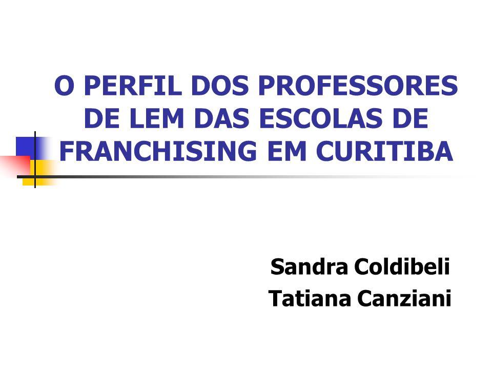 O PERFIL DOS PROFESSORES DE LEM DAS ESCOLAS DE FRANCHISING EM CURITIBA