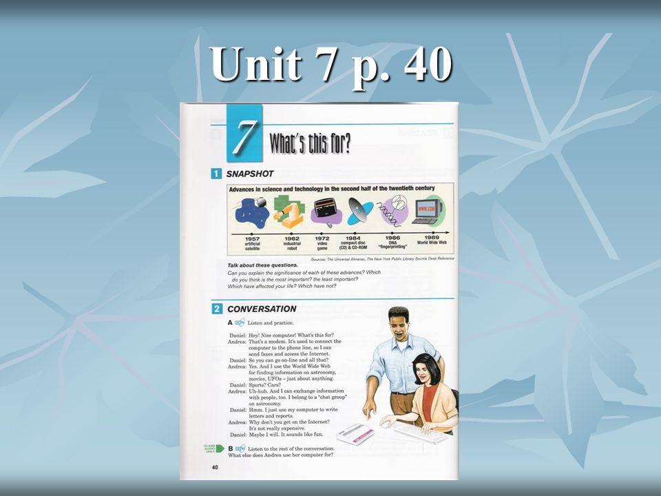 Unit 7 p. 40