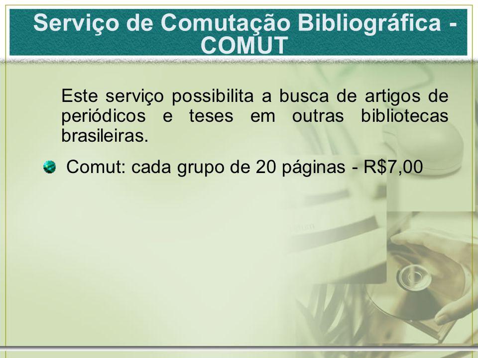 Serviço de Comutação Bibliográfica - COMUT