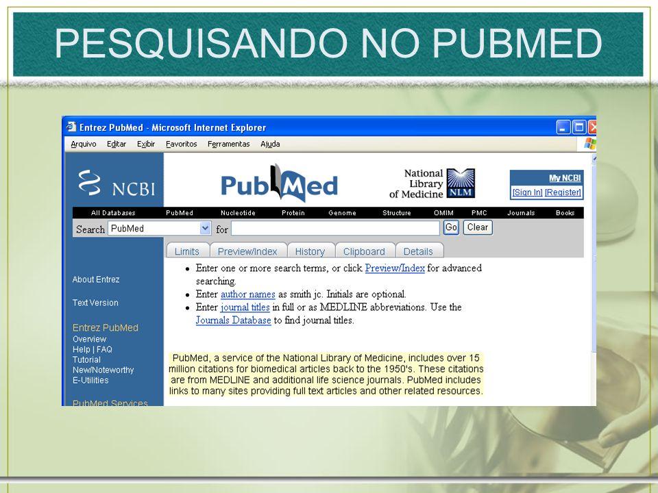 PESQUISANDO NO PUBMED