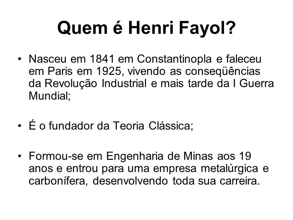 Quem é Henri Fayol