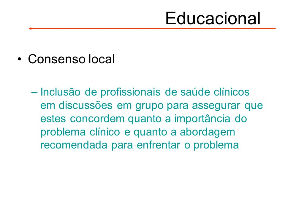 Educacional Consenso local