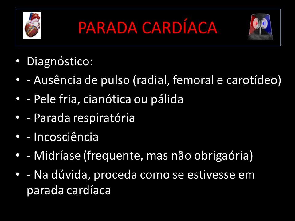 PARADA CARDÍACA Diagnóstico:
