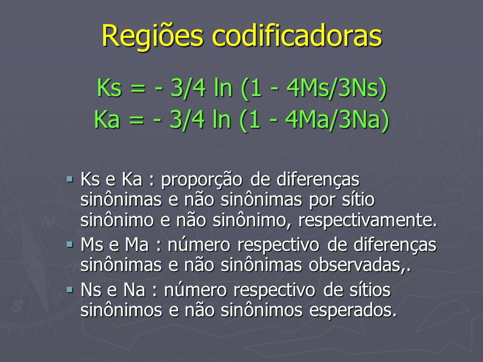 Regiões codificadoras