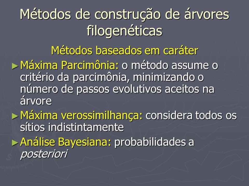 Métodos de construção de árvores filogenéticas