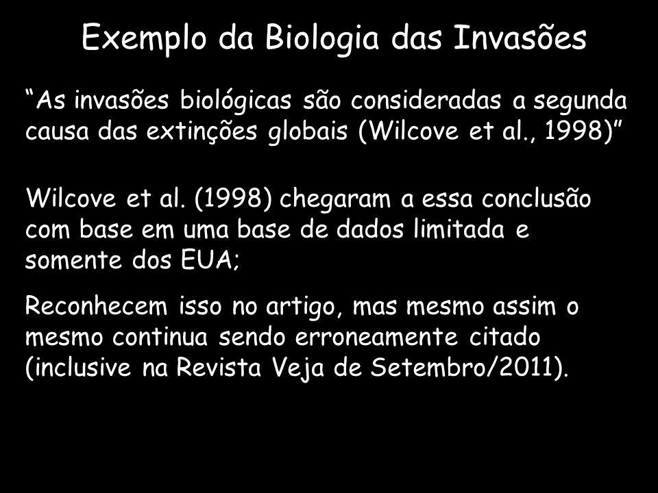 Exemplo da Biologia das Invasões