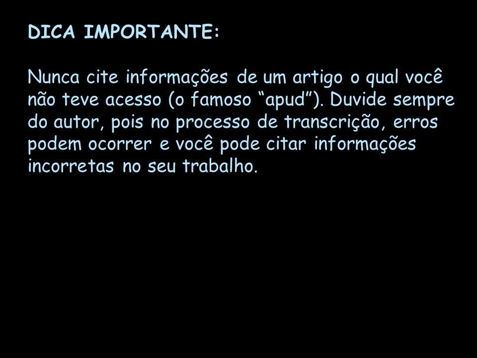 DICA IMPORTANTE: