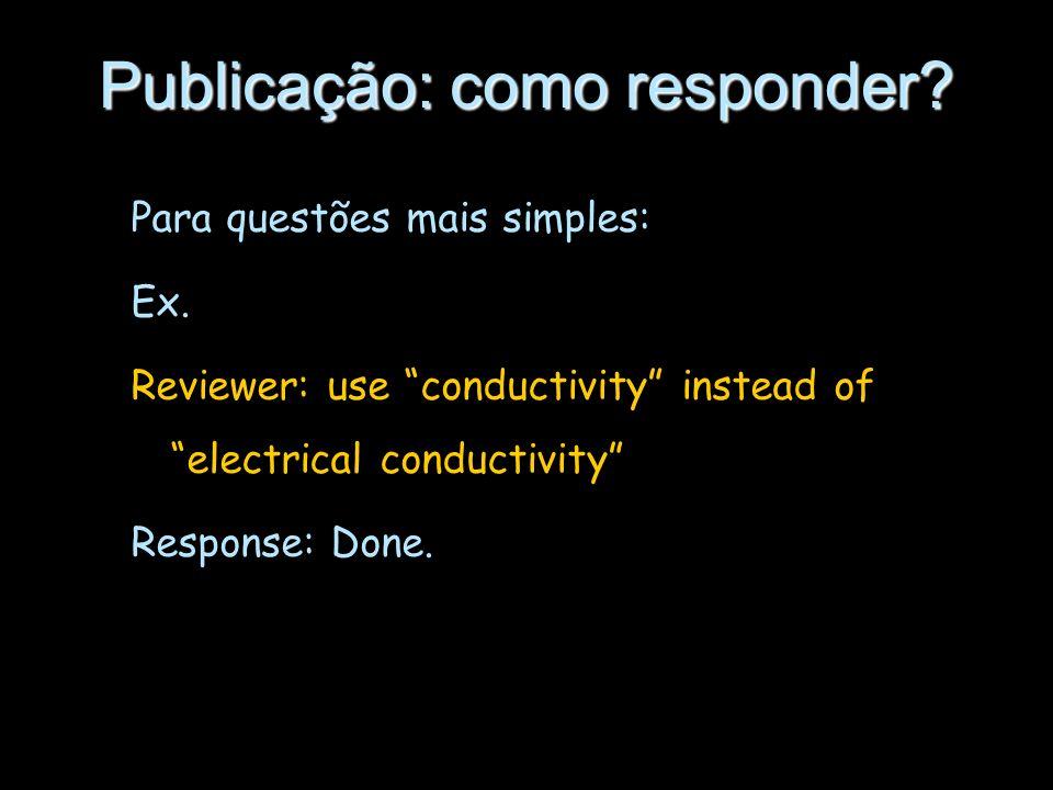 Publicação: como responder