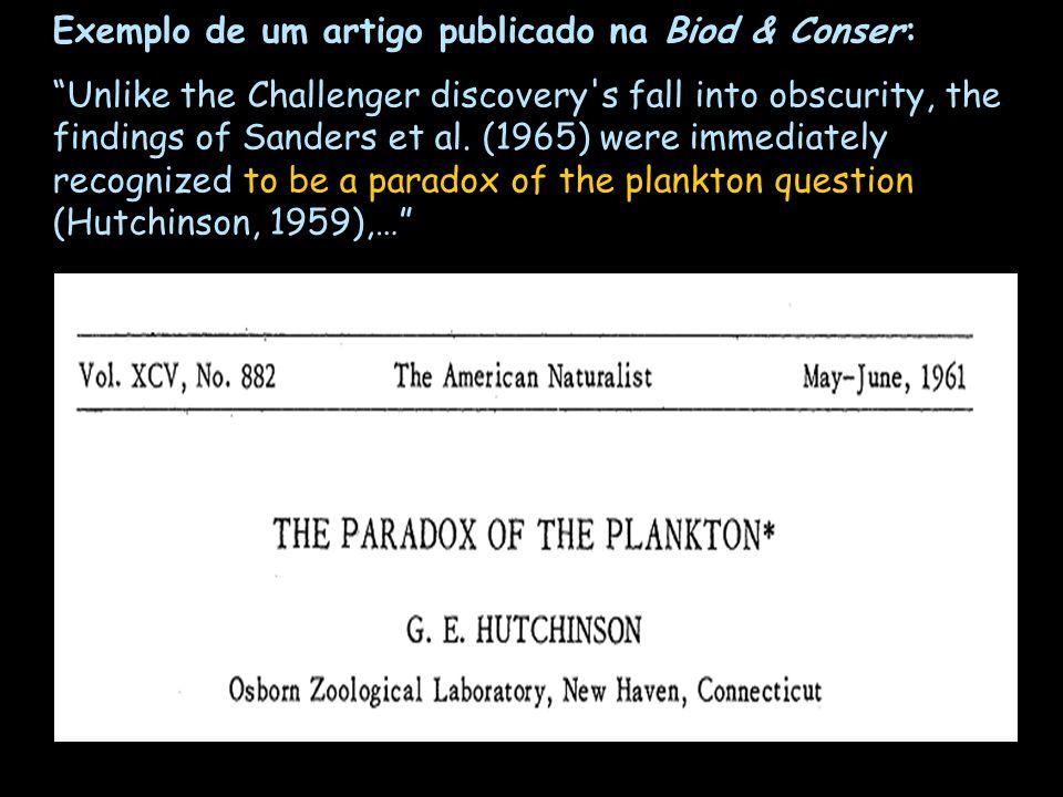 Exemplo de um artigo publicado na Biod & Conser: