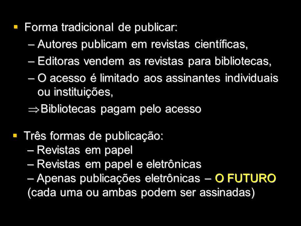 Forma tradicional de publicar: