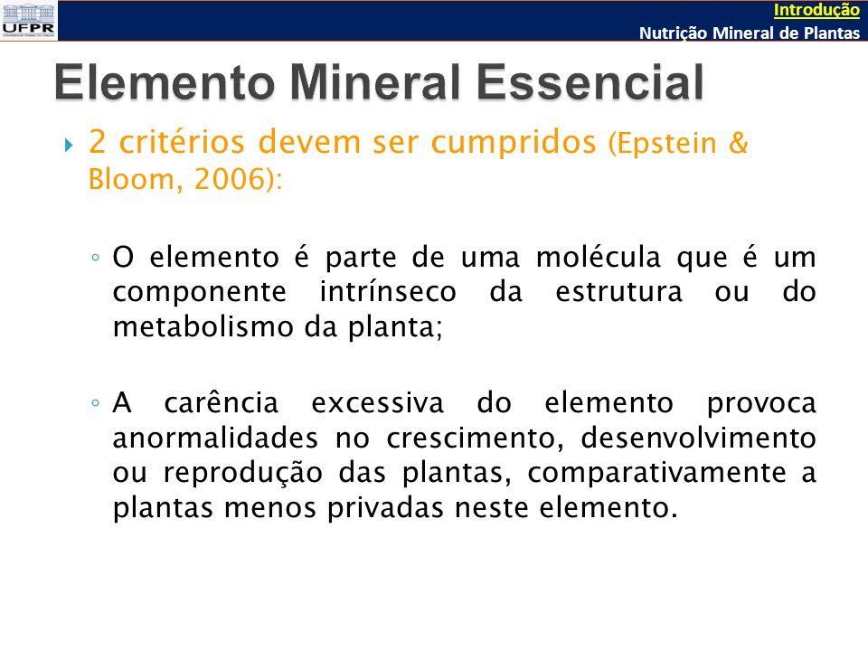 Elemento Mineral Essencial