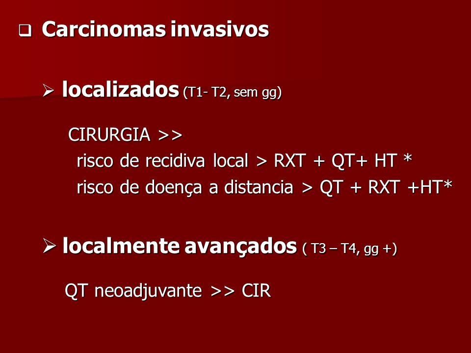 localmente avançados ( T3 – T4, gg +)