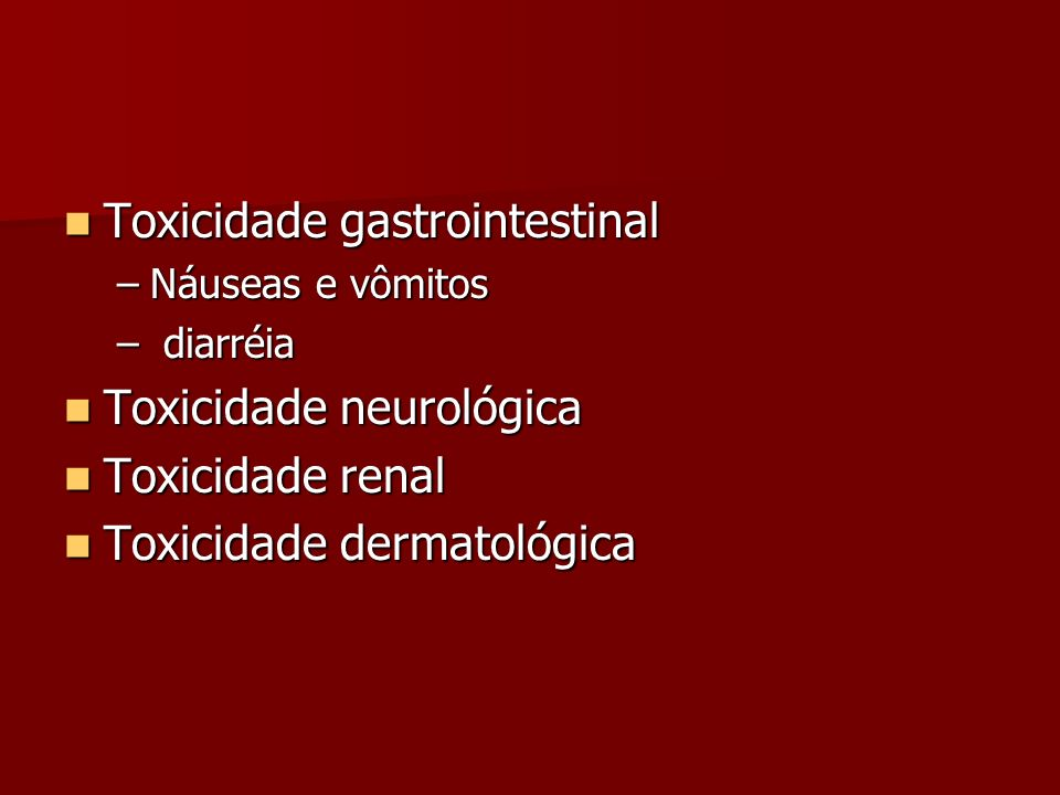Toxicidade gastrointestinal