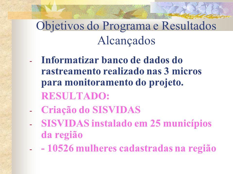 Objetivos do Programa e Resultados Alcançados