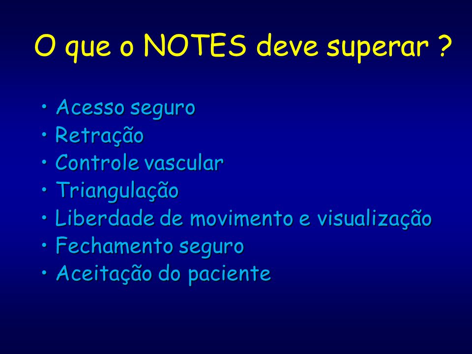 O que o NOTES deve superar