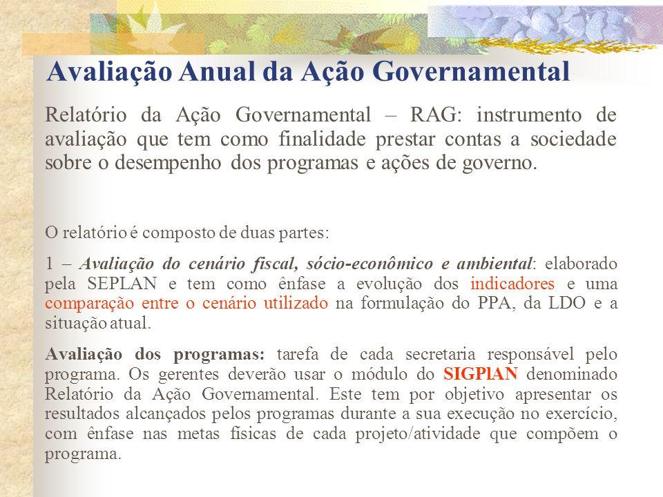 Avaliação Anual da Ação Governamental