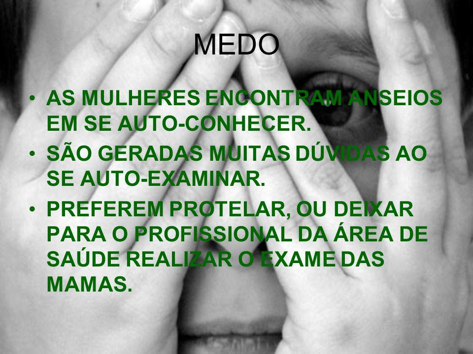 MEDO AS MULHERES ENCONTRAM ANSEIOS EM SE AUTO-CONHECER.